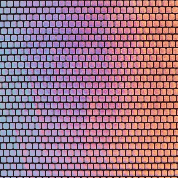 Folienjersey Kästchen 6 x 6 mm – silber
