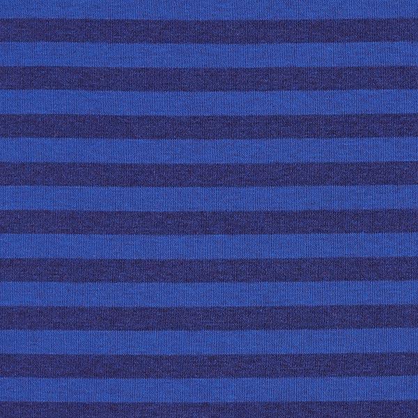 Tissu sweatshirt gratté Rayures 10mm – bleu roi