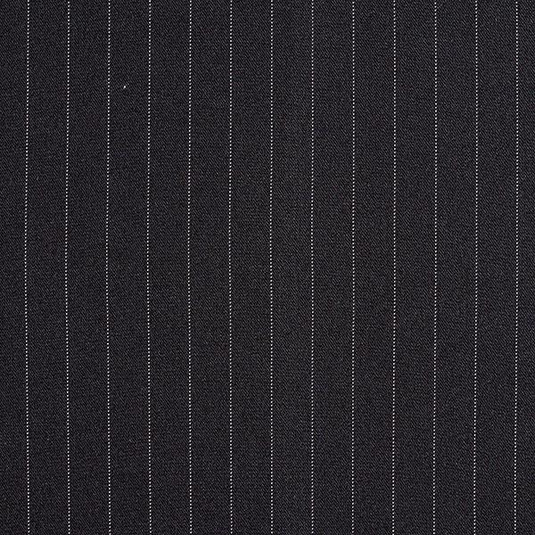 Anzugstoff Nadelstreifen 16 mm – schwarz