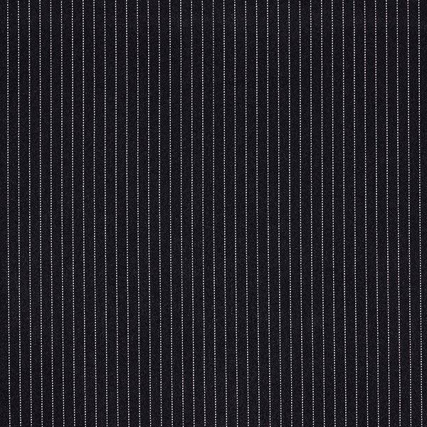 Anzugstoff Nadelstreifen Fein 5 mm – schwarz