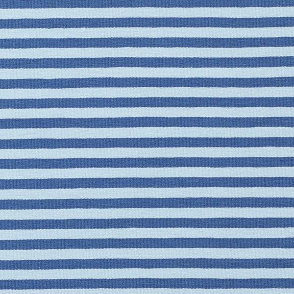 Jersey coton Rayures étroites – bleu jean/bleu clair