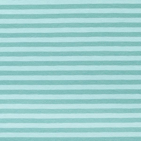 Jersey coton Rayures étroites – vert menthe/bleu clair