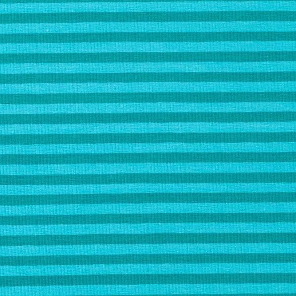 Jersey coton Rayures étroites – turquoise/pétrole