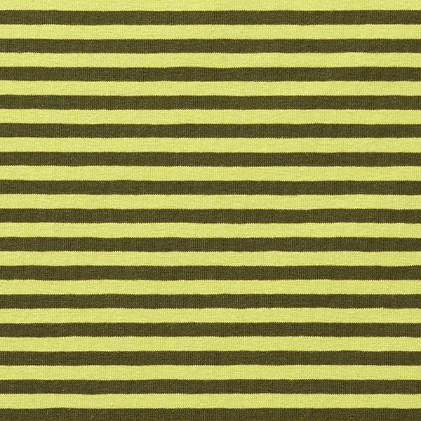 Jersey coton Rayures étroites – vert foncé/vert pomme