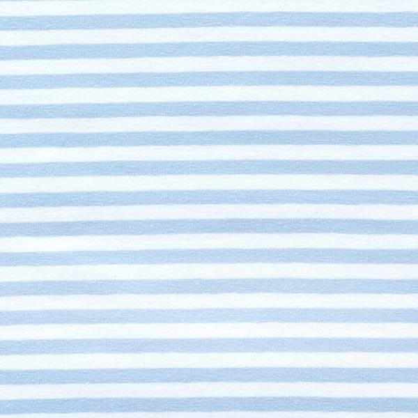 Jersey coton Rayures étroites – bleu bébé/blanc