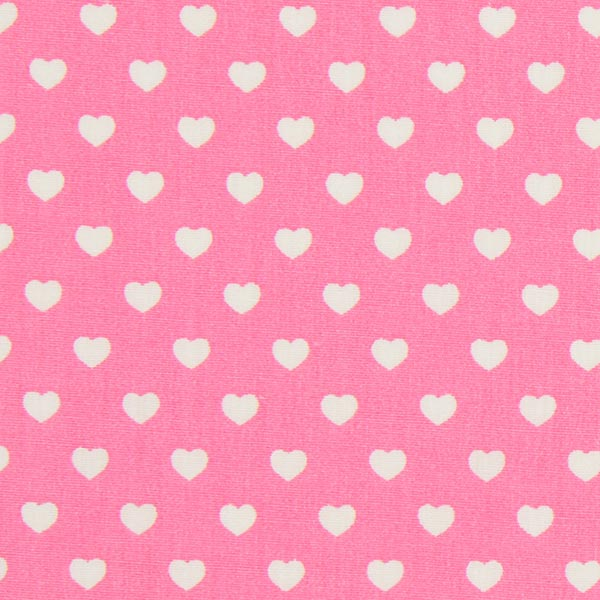 Popeline Stoff Miniherzen – pink