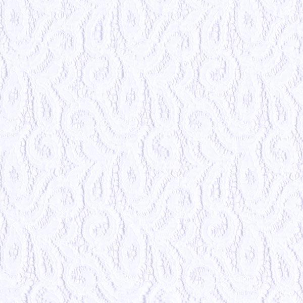 Spitze Paisley-Ranken – weiss
