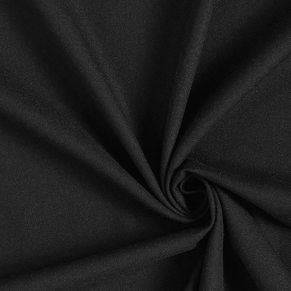 Tissu en viscose Lin – noir