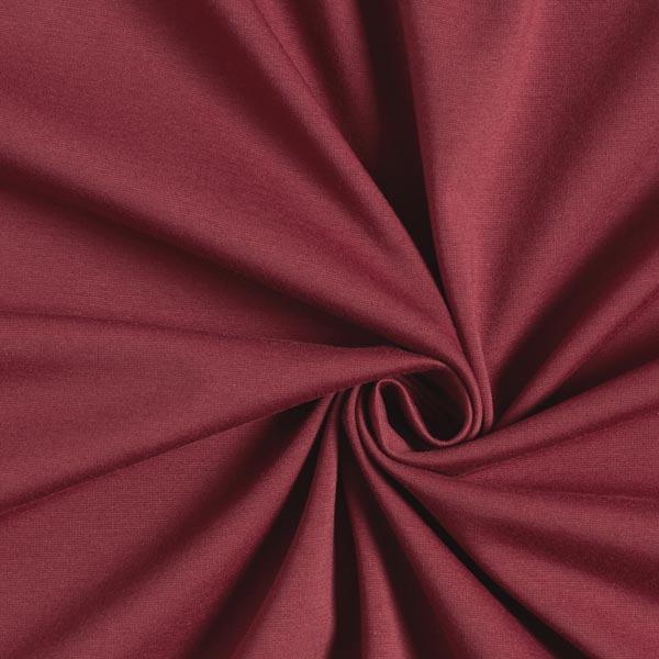 Jersey romanite Coton Uni – rouge bordeaux