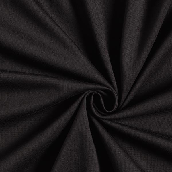 Jersey romanite Coton Uni – noir