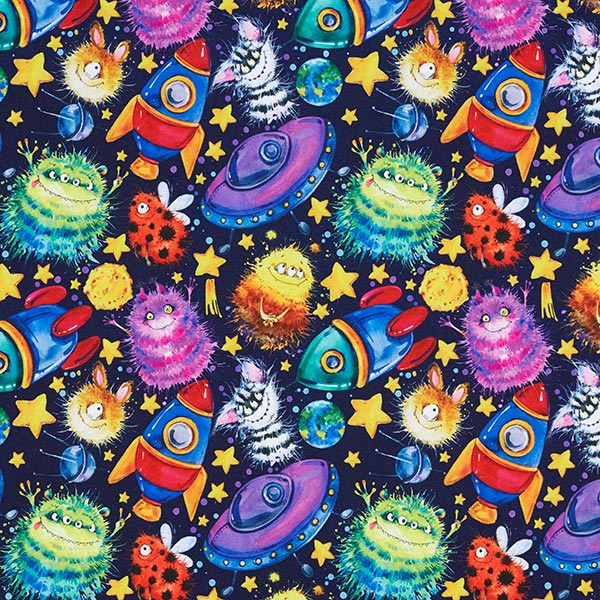 Softshell Aliens multicolores – bleu marine