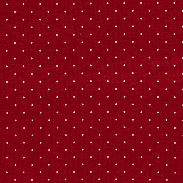 Jersey viscose Points miniatures – rouge bordeaux