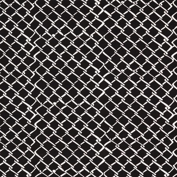Jersey viscose Motif quadrillage – noir/blanc
