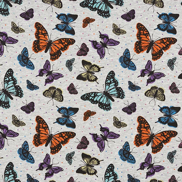 Polaire alpin Papillons multicolores – gris clair