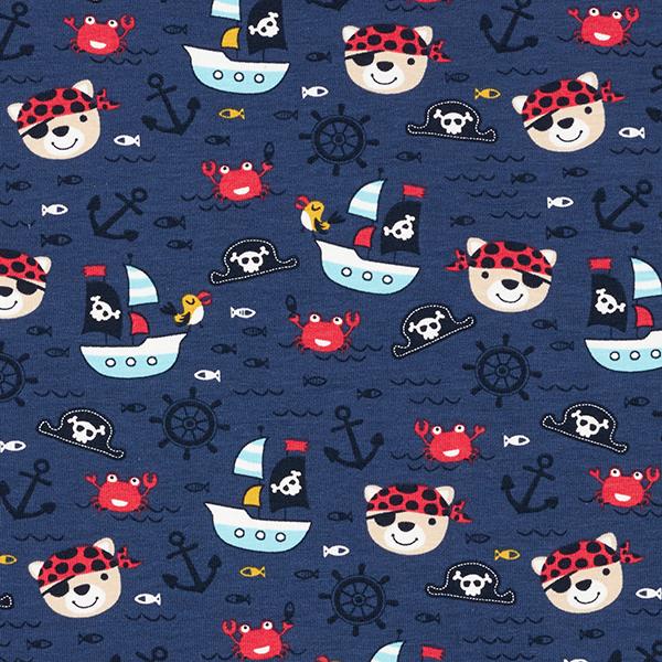 Jersey coton Pirates en mer – bleu marine