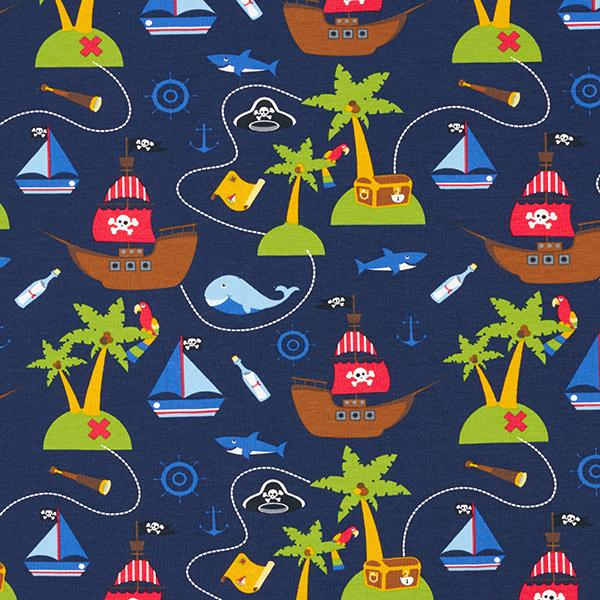 Jersey coton Le monde des pirates – bleu marine