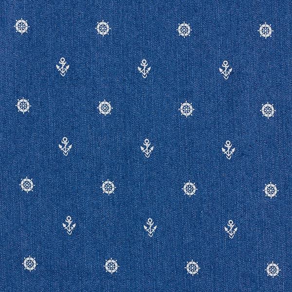 Leichter Stetch-Jeans kleine Anker – jeansblau