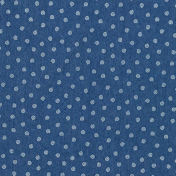 Leichter Denim Stretch Mini-Spiralen – jeansblau