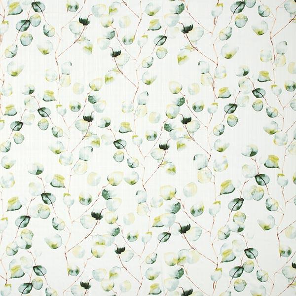 Mélange coton viscose feuilles pastel – blanc
