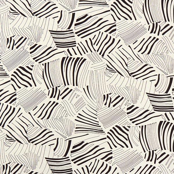 Mélange viscose lin Feuilles de palmier abstraites – nature/noir