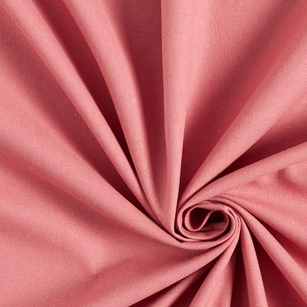Mélange lin coton Uni – vieux rose