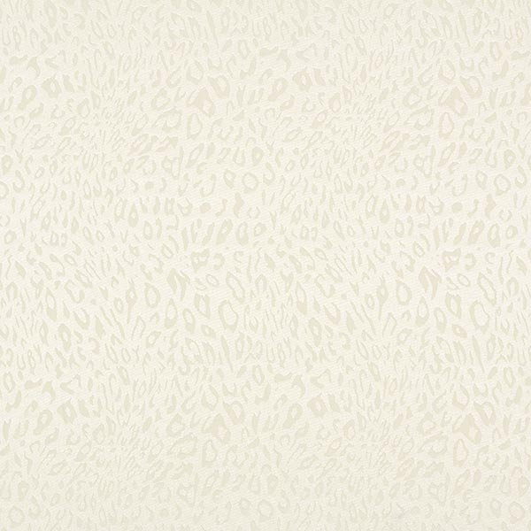 Polyester Satin feines Leomuster – wollweiss