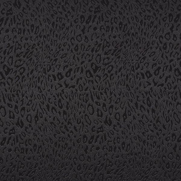 Polyester Satin feines Leomuster – schwarz