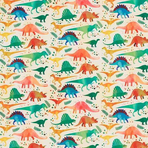 Softshell bunte Dinos – hellgelb/grasgrün