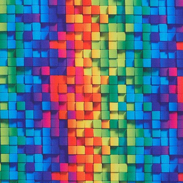 Softshell Bandes arc-en-ciel tissées – bleu roi/mélange de couleurs