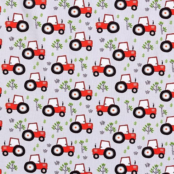Jersey coton Tracteur – argent
