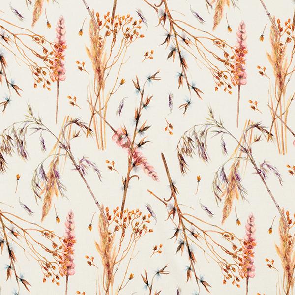 Baumwolljersey Trockenblumen – wollweiss