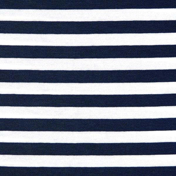 Viskosejersey Streifen – navy