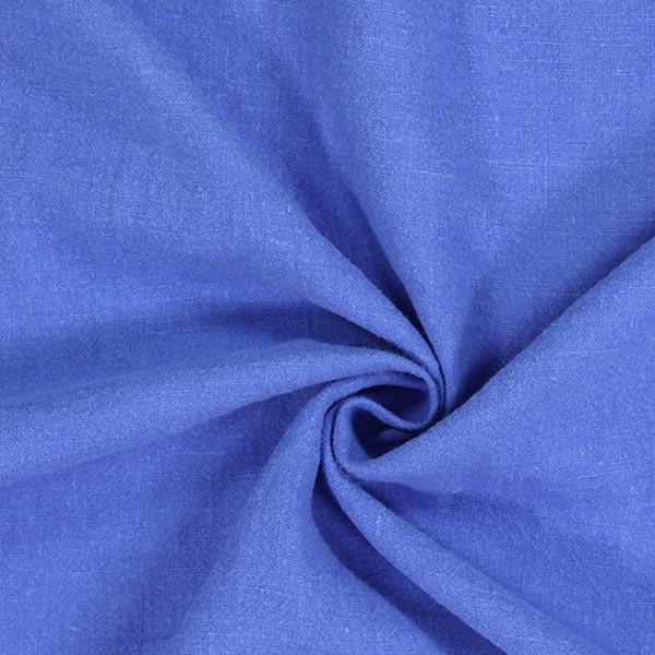 Leinen Stoff, vorgewaschen – königsblau