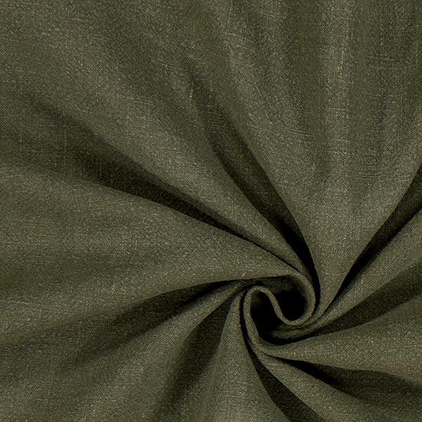 Tissu de lin prélavé – olive foncé