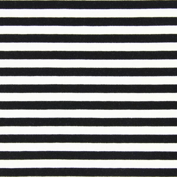 French Terry Rayures – noir/blanc
