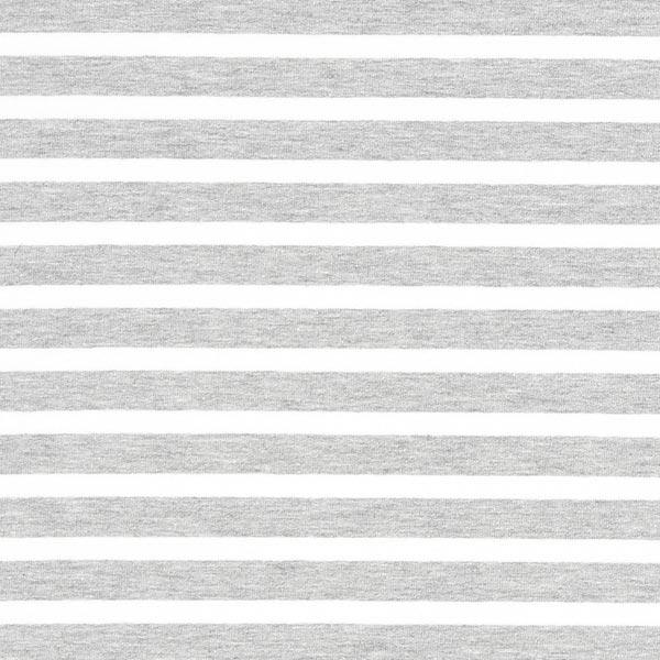 French Terry Ringel 3 - grau/weiß