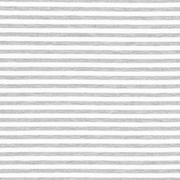 Jersey Rayures étroites – gris/blanc