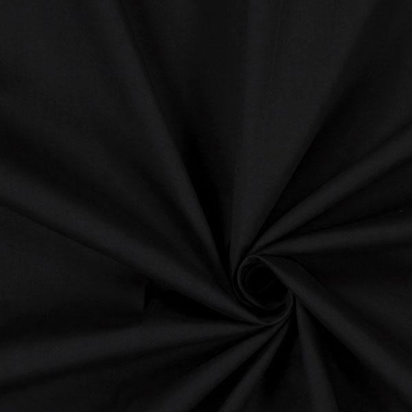 Popeline Stoff Stretch – schwarz
