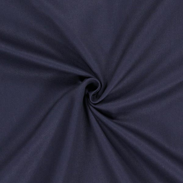 Tissu croisé en coton – bleu marine