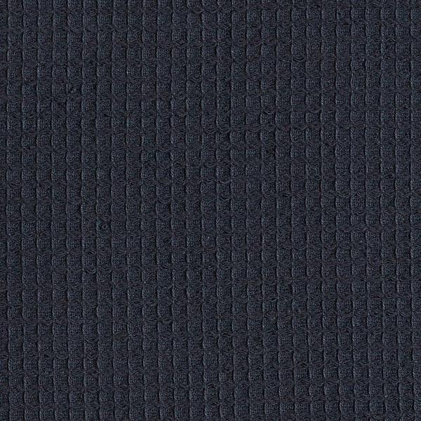 Frottee Waffelpiqué – navy