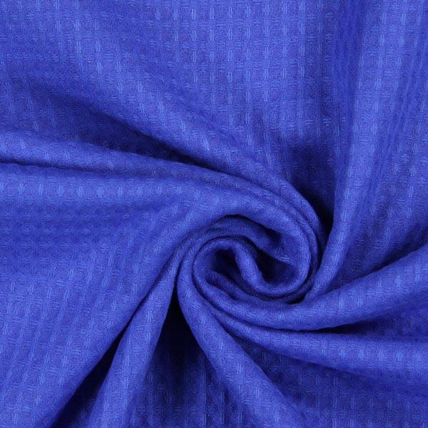 Waffelpiqué – königsblau