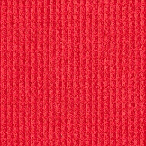 Piqué gaufré – rouge vif