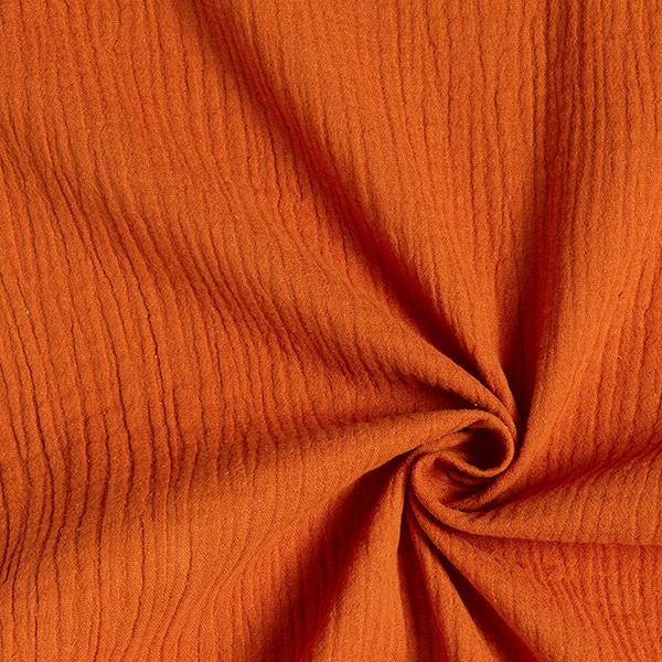 Mousseline/ Tissu double crêpee – terre cuite
