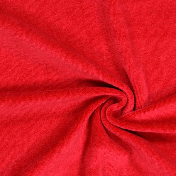 Tissu Nicki Uni – rouge vif