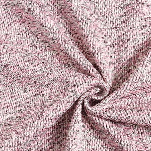 Polaire tricot – rose/gris