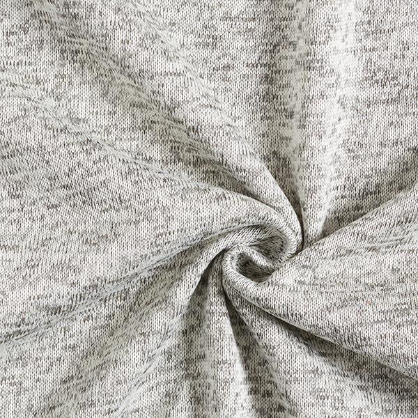 Polaire tricot – blanc/gris