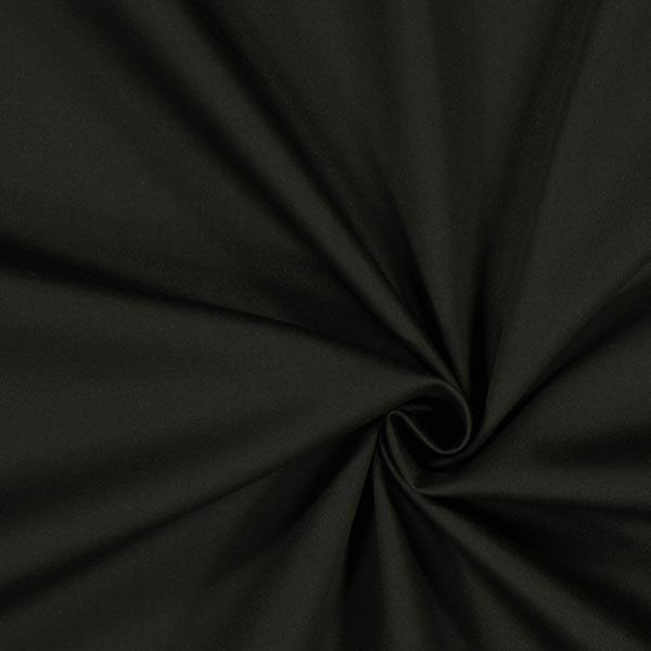 Baumwollsatin Stretch – schwarz
