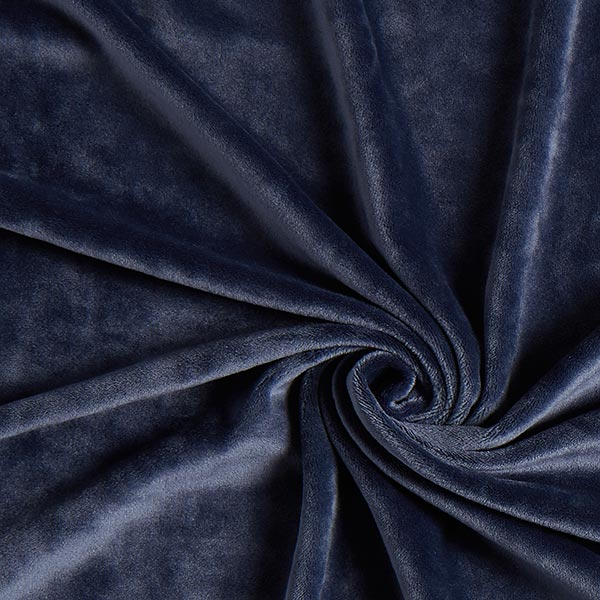 Velours stretch Tissu Nicki – bleu jean