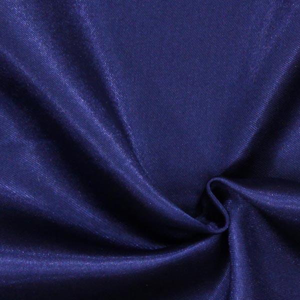 Satin polyester – bleu marine