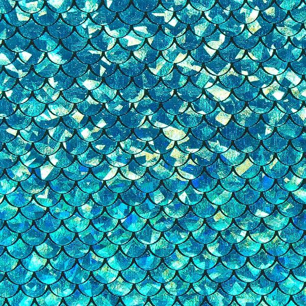 Jersey feuille Sirène – bleu